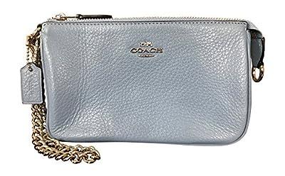 Coach Pebbled Leather Large Wristlet Handbag