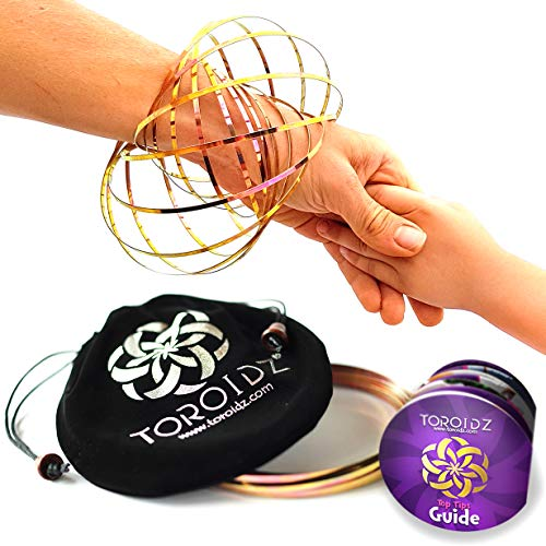 Toroidz ® Flow Ring + Samtbeutel - Wunderbares Magisches Spielzeug - 3D ARM Slinky - Wissenschaft, Zirkus, Magic Anti Stress Toy - Alle Altersgruppen (Roségold)