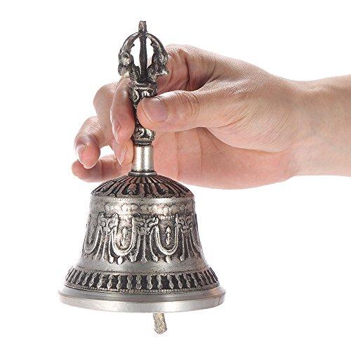 SHIJING Handgemaakte Tibetaanse boeddhistische tempel meditatie zingen bel met Dorje Vajra boeddhisme praktijk instrument