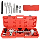Trintion 17Pcs Slide Hammer Dent Bearing Puller Tool Kit Wrench Wrench Axle Hub Auto Set for Car