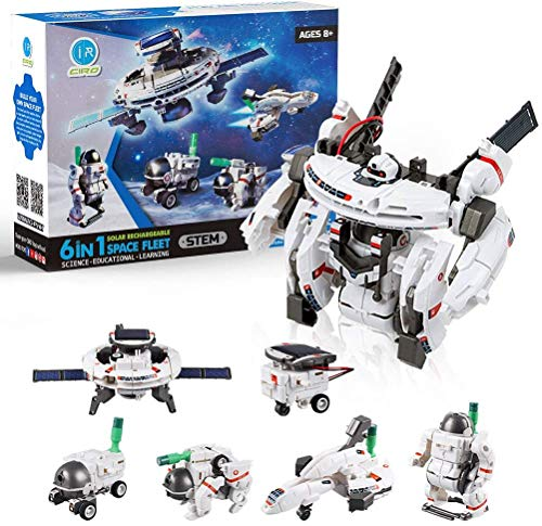 STEM Toys 7in1 Solar Robot Kits Space Toys DIY Building Set Science Experiment Kit Engineer Building Activities for Kids Learning amp Education Toys Powered by The Sun 200 Pieces