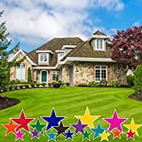 VictoryStore Yard Decorations - Accessories Outdoor Yard Signs 2 Stakes Included Per Sign (Stars 18 Sold Colors) AC4