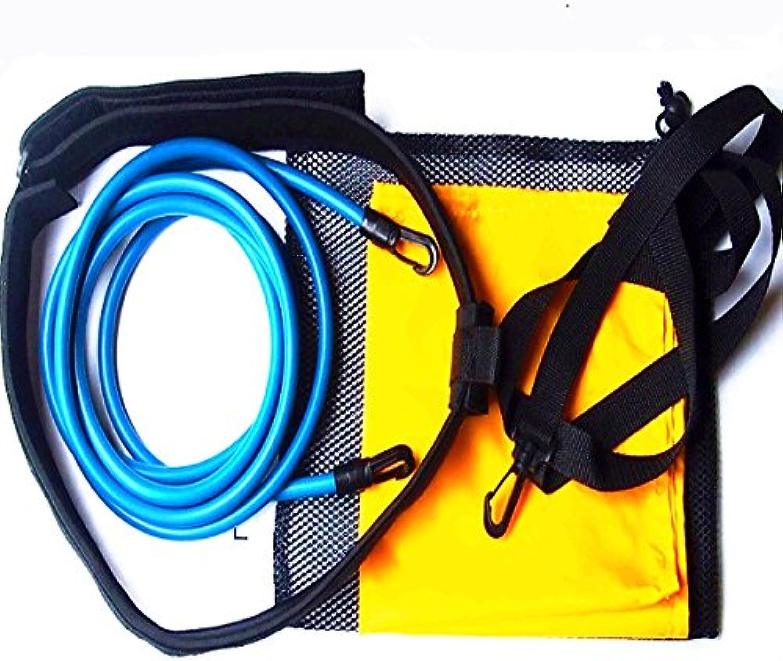HITSAN Swimming Trainer Set Traction Resistance Swim Training Device + Water Pocket + Mesh Bag One Piece