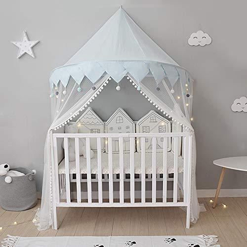 Moustiquaire Lit Bébé Ciel Baldaquin Rideaux de Lit Tente de Lit Enfant Fille Garcon Cadeaux Decoration Chambre BNTE001