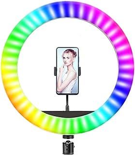 Andoer LED Ringlicht, Lichtring mit 16 RGB Farben, dimmbar, Lichtring für Selfie, Make up, YouTube, Tik Tok (8 Zoll)
