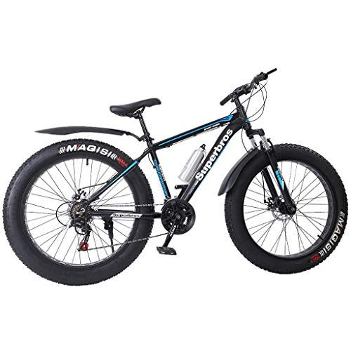 Thinktoo Fat Tire Mens Mountain Bike, 17-Inch/Medium High-Tensile Aluminum Frame for Aerobic Exercise, Home Fitness, Stretching, Strength Training