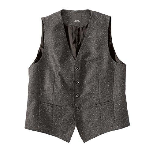 DIGEL XXL strukturierte Weste grau mit Schurwolle, deutsche Größe:58
