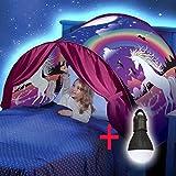 Beauté Top Enfants Pop Up Lit Playhouse Tent - Jumeaux (Winter Wonderland) (Unicorn Fantas + Liseuse)
