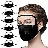 N / A Bixmox 6 𝗠𝗔𝗦𝗖𝗔𝗥𝗜𝗟𝗟𝗔𝗦 Algodón Reutilizables con Pantalla Protección Facial Lavables...