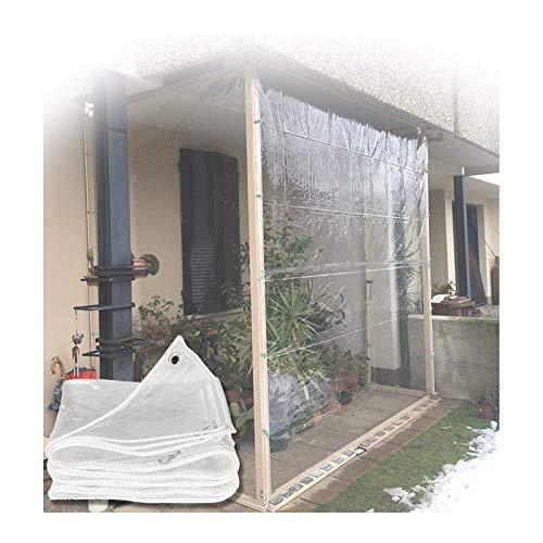 Lona MYAN Impermeable, Toldo Transparente Plástico Ventana Película para Canopy Jardín Techo Al Aire Libre Multiuso, 400g/m² (Color : Clear, Size : 2x6m/6.6x19.7ft)