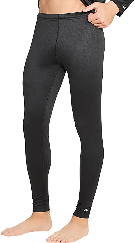 Duofold Men's Varitherm Mid Weight Thermal Bottom, Black, 2-Pack