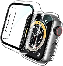 [2 Pack] TOCOL Case for Apple Watch 42mm Series 3/2/1 with Built-in Tempered Glass Screen Protector, All-Around Ultra-Thin Bumper Full Cover Hard PC Protective Case for iWatch 42MM - Clear