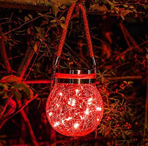 Araña solar, la luz LED redonda de cristal es exquisita y compacta, adecuada para la decoración de jardines en interiores y exteriores, luz en forma de árbol, simple, práctica, impermeable