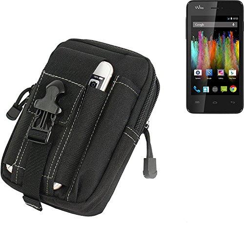 K-S-Trade® Gürtel Tasche Für Wiko Kite Gürteltasche Schutzhülle Handy Hülle Smartphone Outdoor Handyhülle Schwarz Zusatzfächer