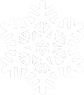 Large White Snowflake Foam Cutout Christmas Decoration   9 Ct