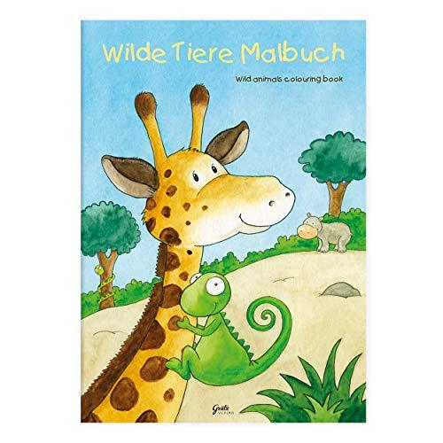 Kinder lieben Ausmalen! - Malbuch DIN A4, ab 3 Jahren, Wilde Tiere mit verschiedenen Tier- und Wüstenmotiven für Jungen und Mädchen