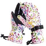 Warme Skihandschuhe für Damen und Herren Snowboardhandschuhe Schneemotorräder Motorradfahren Winddichte wasserdichte Handschuhe Neutrale schneesichere Handschuhe @Pink_M