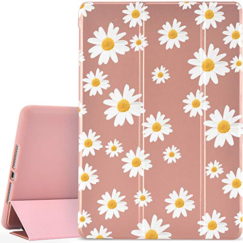 YCCY Daisy Pad Case Cover for iPad Pro 10.2' (2019) Rose Gold Case Daisy Floral Flower Anti-Scratch Shockproof Lightweight Smart Trifold Stand Cover Soft TPU Cover for iPad Pro 10.2'(2019)