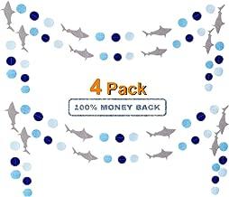 Shark Banner, Shark Garland, Ocean Animals/Baby Shark/Under The Sea/Summer Beach Bach/Swimming Pool/Hawaii Luau/Shark Doo Doo Theme Baby Shower Birthday Party Supplies Decorations