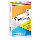 Paper Mate EverStrong #2 Pencils, Reinforced, Break-Resistant Lead When Writing, 72-Count