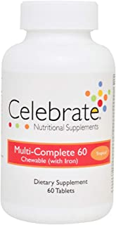 Celebrate Multi-Complete 60 with Iron Chewable - Tropical - 60 Count