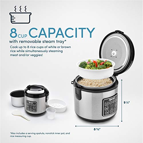 Product Image 3: Aroma Housewares 8-Cup (cooked)/ 2 Quart Digital Cool-Touch Rice Cooker & Food Steamer