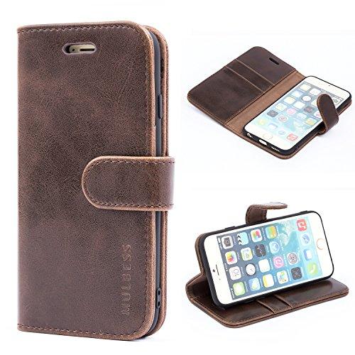 Mulbess Handyhülle für iPhone 6S Hülle, iPhone 6 Hülle, Leder Flip Hülle Schutzhülle für iPhone 6s Tasche, Vintage Braun
