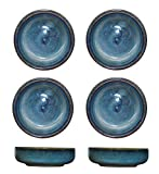 Colias Wing 3.5 Inch Vintage Style Kiln Glazed Ceramic Side Dishes Korean Bowls Seasoning Dishes Soy...