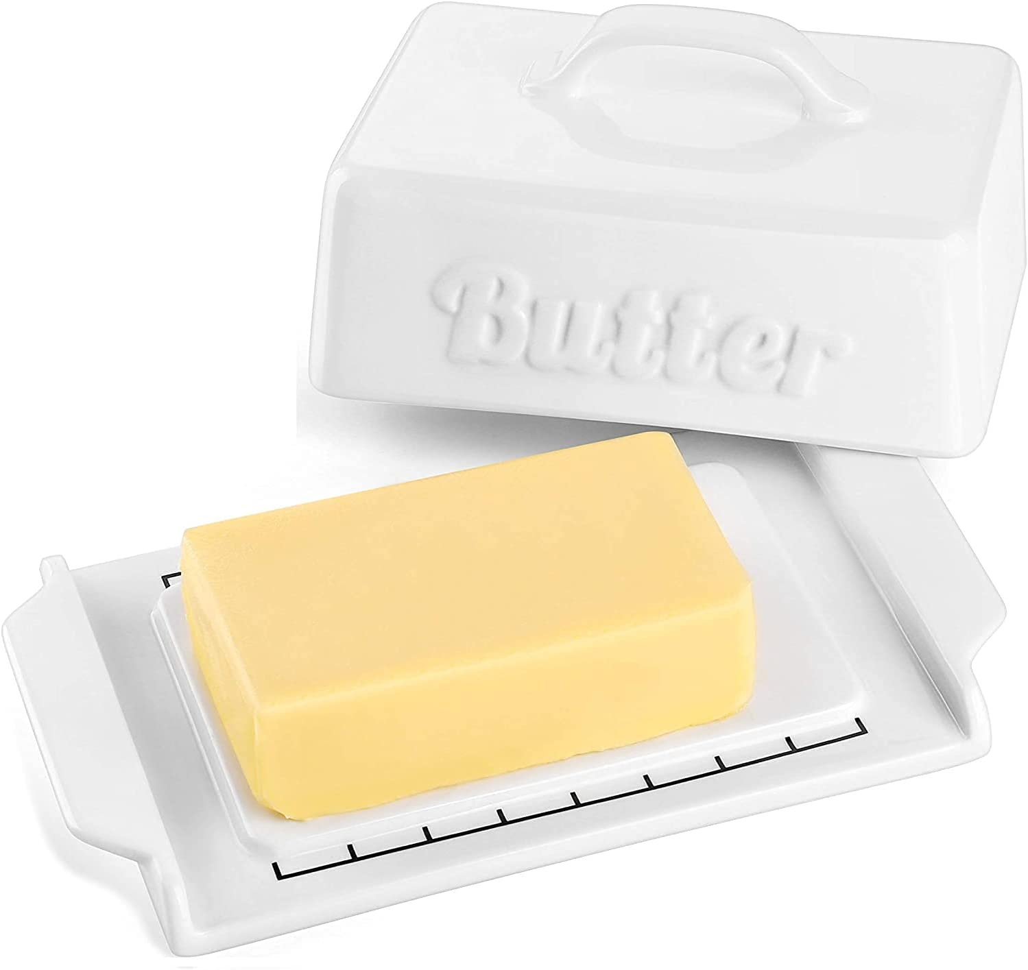 DOWAN Butter Dish Set with - and Cheap Max 58% OFF bargain Porcelain Lid Knife