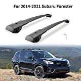 MONOKING Cross Bars Roof Rack Compatible with 2014-2021 Subaru Forester with Side Rails Aluminum Cargo Carrier Kayak Luggage Crossbars Max Load 155 LBS