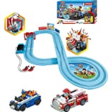 Carrera First Paw Patrol - Slot Car Race Track - Includes 2 Cars: Chase and Marshall - Battery-Powered Beginner Racing Set for Kids Ages 3 Years and Up