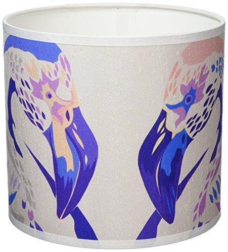 Chloe Croft London Limited Lilac Flaingos 8-inch lampenkap, zijde paars/roze/wit
