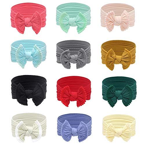 Baby Headbands Girl Nylon Bows T...
