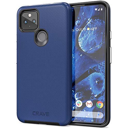 Crave Pixel 4a 5G Hülle, Dual Guard Protection Series Schutzhülle für Google Pixel 4a (5G), Marineblau