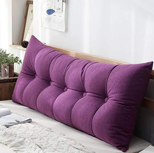 Rugleuning voor bed, rugkussens voor lounge kussens van de bank -Of range meubels in 8 trendy kleuren,Purple,120X60X20cm