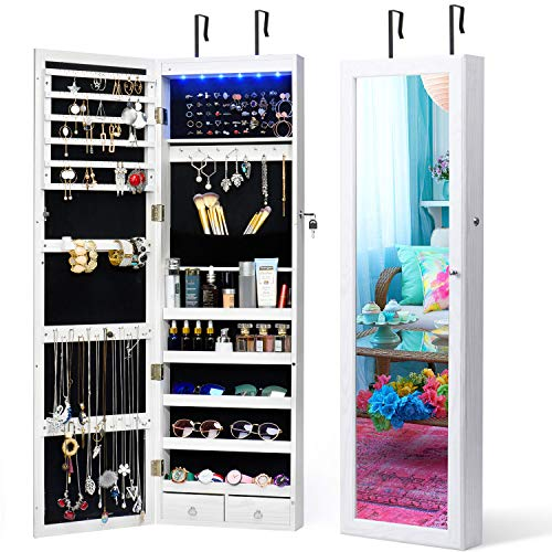 Titan Mall LED Jewelry Armoire With…