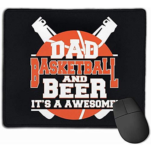 Papa Basketbal en bier het is een geweldig rechthoek anti-slip rubber muismat Gaming Mouse Pad