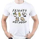 Friends Not Food Vegan Vegetarian Camiseta para Hombre Blanco XL