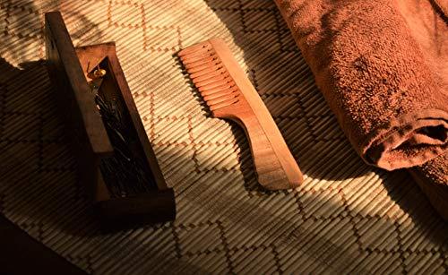 SVATV Peigne en bois de margousier fabriqué à la main N-74 (17,8 cm 5,1 cm)