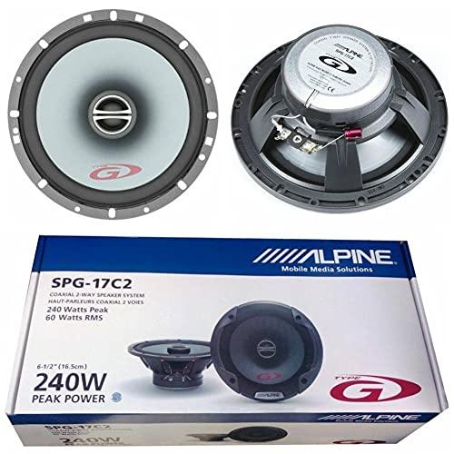 2 Haut-parleurs coaxiaux 2 Voies Compatible avec Alpine SPG-17C2 16,50 cm 165 mm 6,5' 60 Watts rms 240 Watts Max préparation Voiture, par Paire