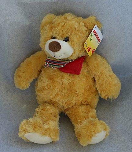 Althans 55585 - Teddy aus Curlplüsch, braun oder gold, 28 cm