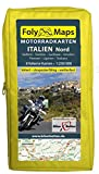 FolyMaps Motorradkarten Italien Nord: 1:250 000 Südtirol, Trentino, Gardasee, Piemont, Ligurien,...