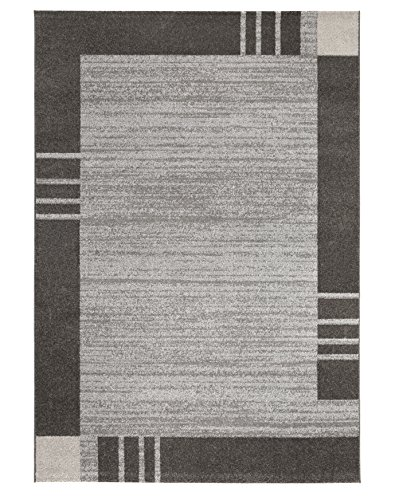 Andiamo Carpet Le Havre, geweven tapijt, zacht, woonkamer, slaapkamer, hal, eetkamer, 100% polypropyleen, vrij van schadelijke stoffen Tapijt. 120x170 cm Borduursel moddergrijs