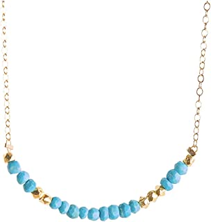 Turquoise Morse Code Necklace