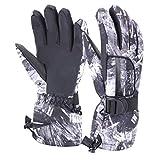 VERTAST Kinder Damen Herren Skihandschuhe Winddichte wasserdichte Winter warme Handschuhe Fahrradhandschuhe, Schwarze Graffiti, S