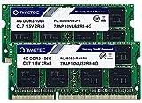 Timetec 8GB KIT(2x4GB) DDR3 1066MHz PC3-8500 Non-ECC Unbuffered 1.5V CL7 2Rx8 Dual Rank 204 Pin SODIMM Laptop Notebook PC Computer Memory RAM Module Upgrade (8GB KIT(2x4GB))