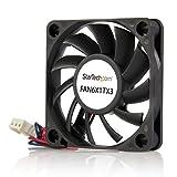StarTech.com 60x10mm Replacement Ball Bearing Computer Case Fan w/ TX3 Connector - 3 pin case Fan - TX3 Fan - 60mm Fan (FAN6X1TX3), Black