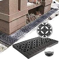 防臭リニアフロアドレン滑り止め耐力キッチン目詰まり防止設置が簡単厚さ30mm排水路フロアドレン、3サイズ(カラー:ブラック、サイズ:500x200x30mm)