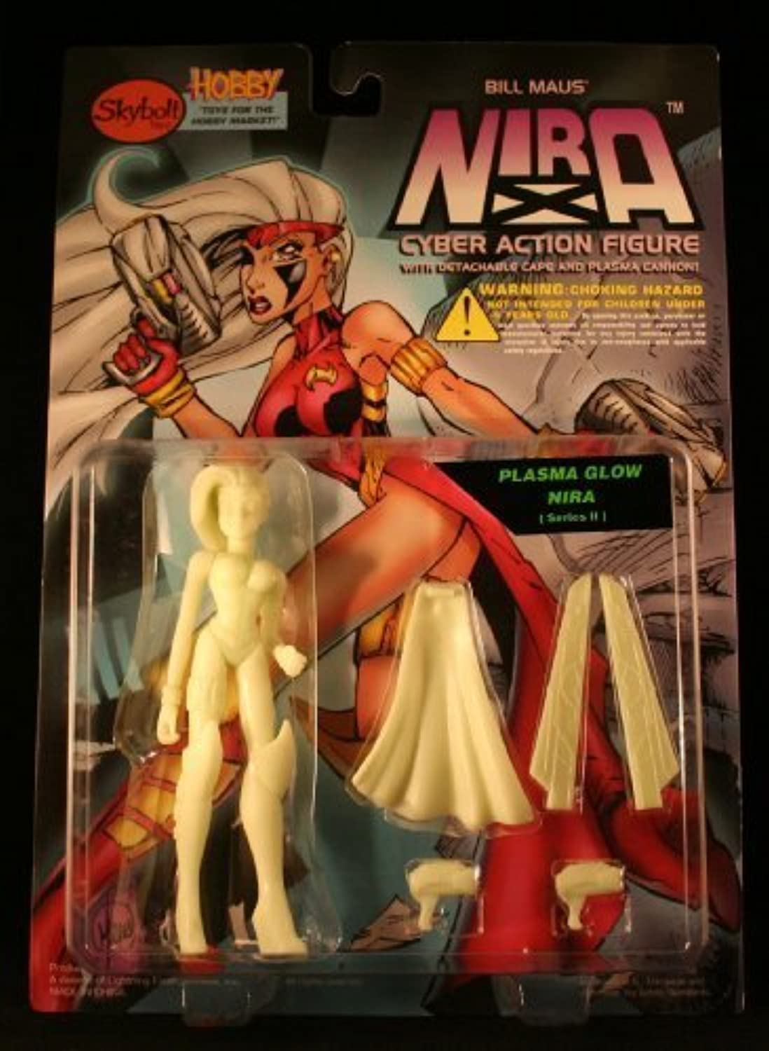 Plasma Glow Nira Cyber Action Figure with Detachable Cape and Plasma Cannon  Bill Maus' Nira by Skybolt Toys