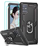 LeYi for Samsung Galaxy A51 Case and Tempered Glass Screen
